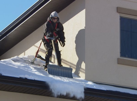 Warmer weather causing melting snow roof problems