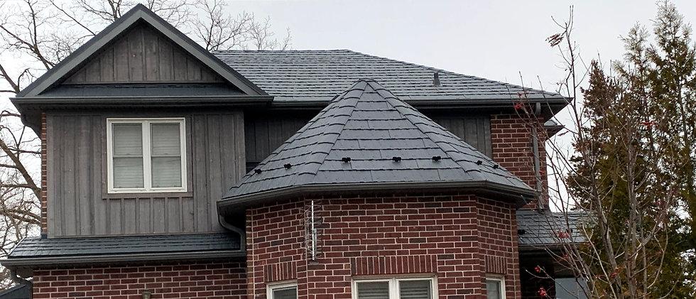 Soteria Storm Grey Permenant metal roof.