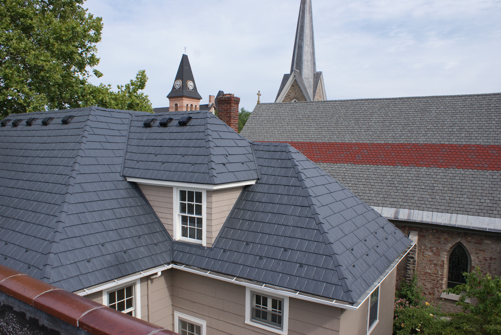 Energy saving metal roof