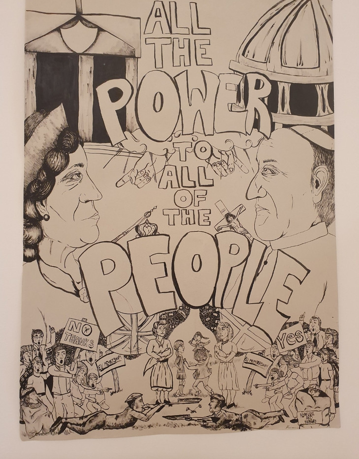 All the Power to All of the People, ink on foolscap, A1, 2019