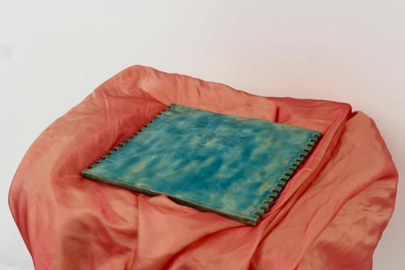 3. A Piece of Sky, Glazed Clay, 30 x 30 cm, 2020.