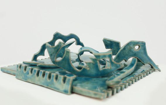 1. Soviet Traces, Glazed Clay, 35 x 35 cm, 2020.