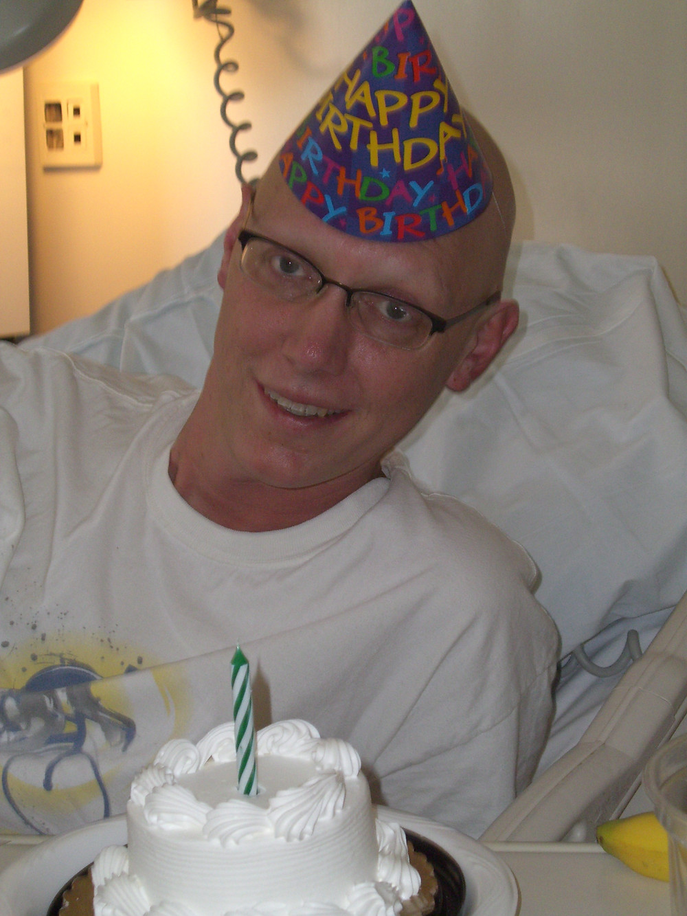 Art's 42 birthday in the middle of stem cell treatment