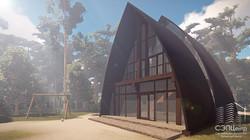 Стрельчато-арочное здание