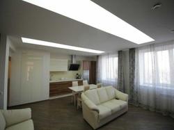 Дизайн гостиной с кухонной зоной