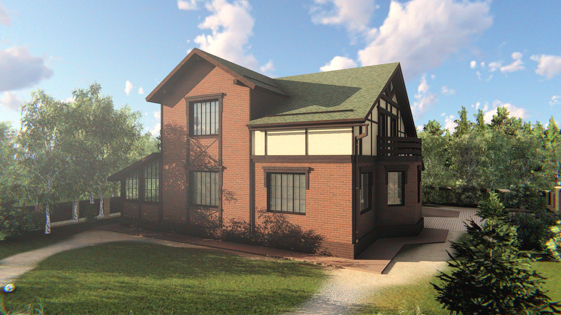 Индивидуальный двухэтажный жилой дом