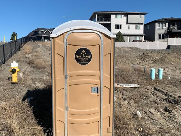 construction porta potty