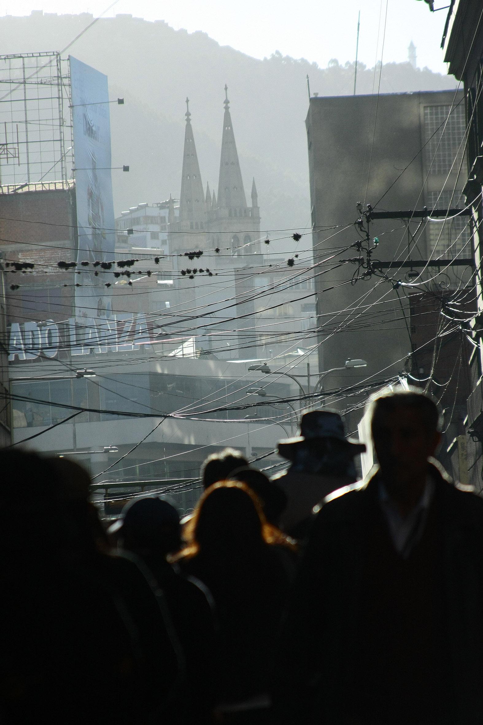LA PAZ, ciudad del caos siempre caos