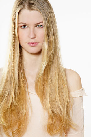 Girl with Cassia and Henna Golden Blonde Hair