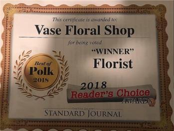 Best Florist Award