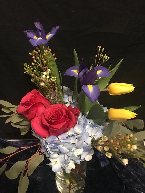 Hydrangea & Tulip Arrangement