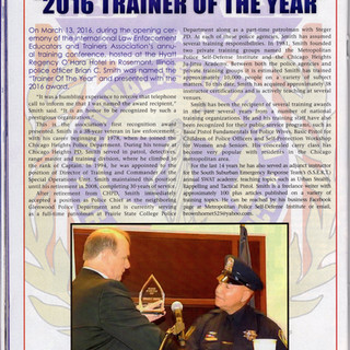 NACOP staffer named 2016 trainer of the