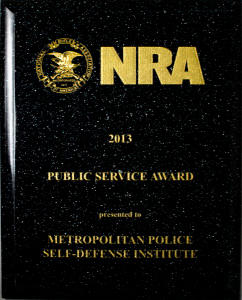 NRA Public Service Award 2013