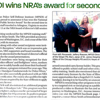 mpsdi wins NRA award for second year, 2