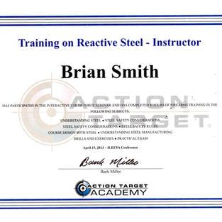 Training on Steel Instructor, 15 April 2