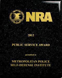 NRA Public Service Award 2012