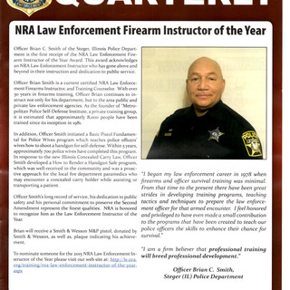 NRA Quarterly, Instructor of the year.jp