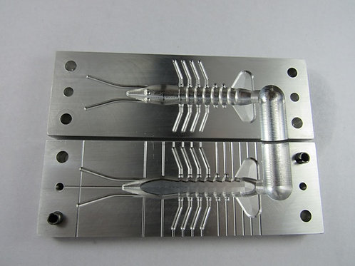 "shrimp  3"" body length   injection mold"