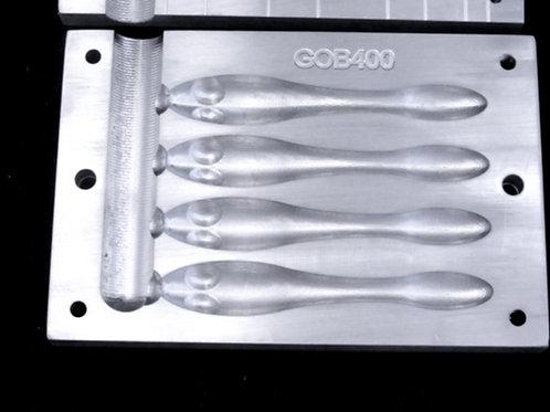 goby  GOB400 4 inch bait 4 cavity mold