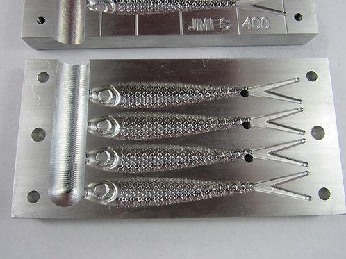 jmfs 400    4 inch jerk bait soft bait mold