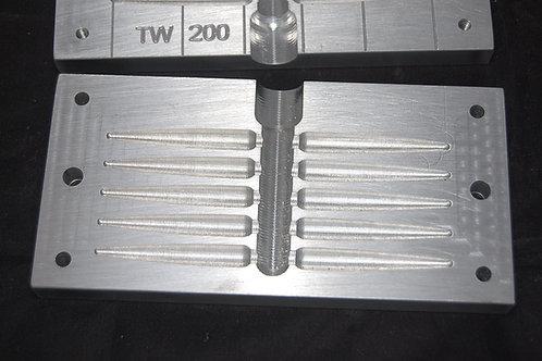 TW200 taper worm  bait mold 10 cavity