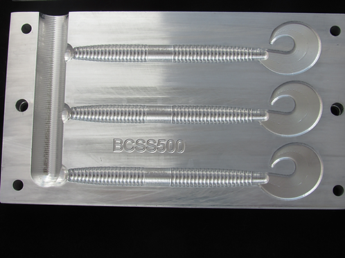 """5"""" curly tail worm  3 cavity  BCSS500 injection mold"""