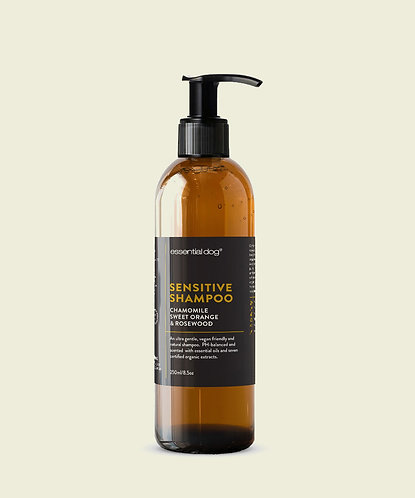 ESSENTIAL DOG SHAMPOO: CHAMOMILE, SWEET ORANGE & ROSEWOOD (SENSITIVE)
