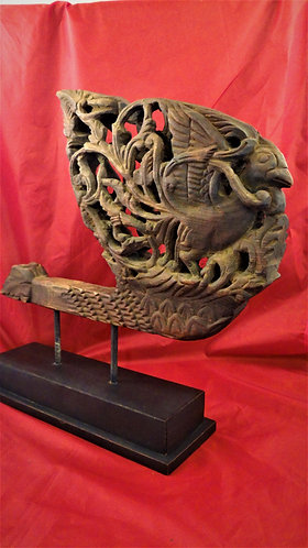 Parrot Carrying Nesting Material Ox Cart Prow Decoration