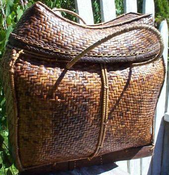 Antique Lahu Pillow Basket