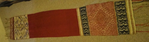 Antique Thai SilkBrocade: Each End a SEparate Weaving