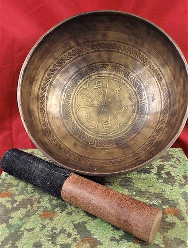 "Tibetan Singing Bowl 8.5"" Diameter"