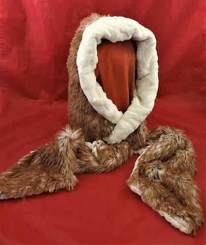 Red Fox Hoody Scarf