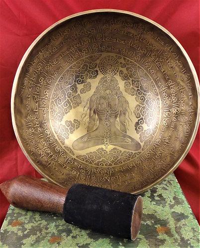 Tibetan Singing Bowl 10.75 Diameter