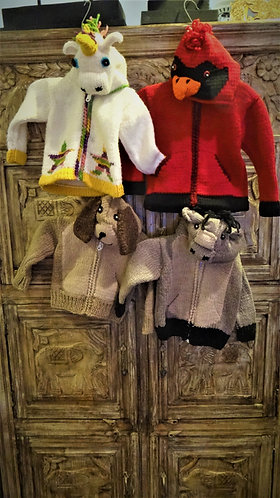 Animal Hood Kids Sweaters