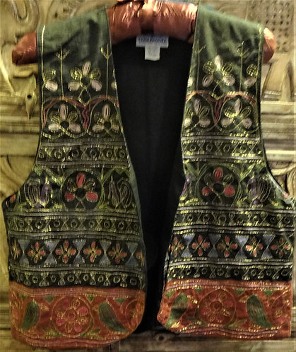 Embroidered Vest Size 10