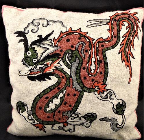 Kashida Dragon Pillow Cover
