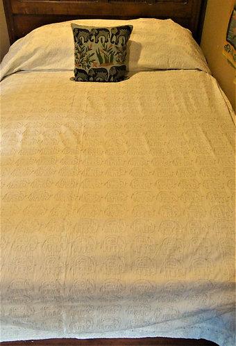Ari Stitch Elephant Queen Bedspread