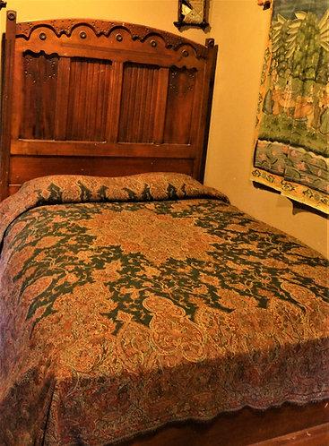 Super Soft Merino Wool Paisley Bedspread or Blanket