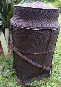 Antique Lidded Akha Backpack