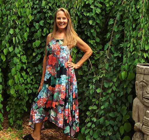 Flower Bouquet Maxi Dress:Papillon