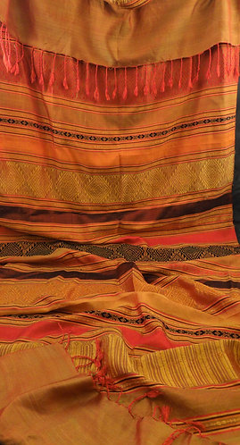 Apinya: Brocade Thai Silk Scarf