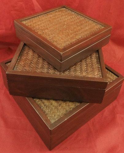 Mango Wood Nesting  Boxes