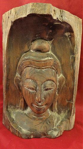 Teak Buddha Bust