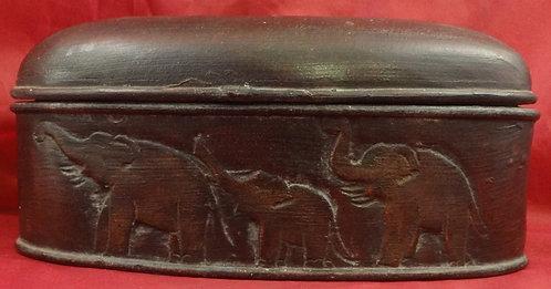 Oval Mango Wood Elephant Box