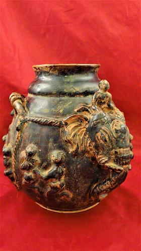 Elephant & Mahut Vase
