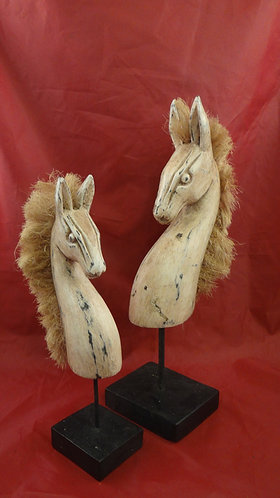 Horses with Straw Manes