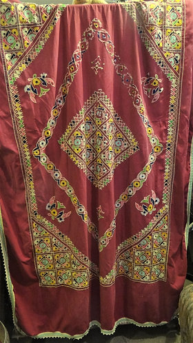 Vintage Sindhi Single Bedspread or Tablecloth