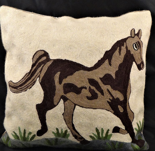 Kashida Horse Pillow Cover