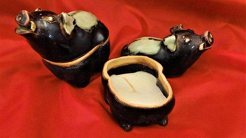 Pig Candle Jar