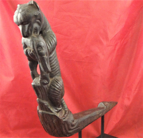 Folk Tale of Tiger Eating a Woman Ox Cart Prow Decoration
